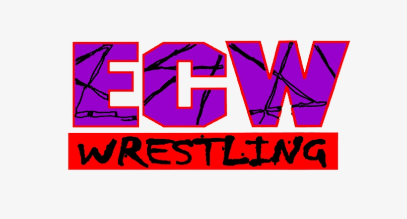 This Logo Was Used Up Until The Bankruptcy Of Ecw In - Extreme Championship Wrestling Logo, transparent png #1430782