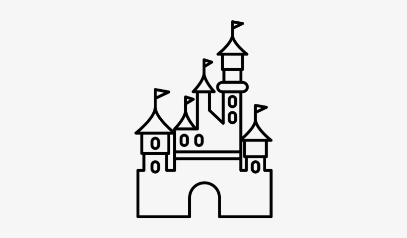 Free Disney Castle Logo Outline Disneyland Paris Drawing Easy
