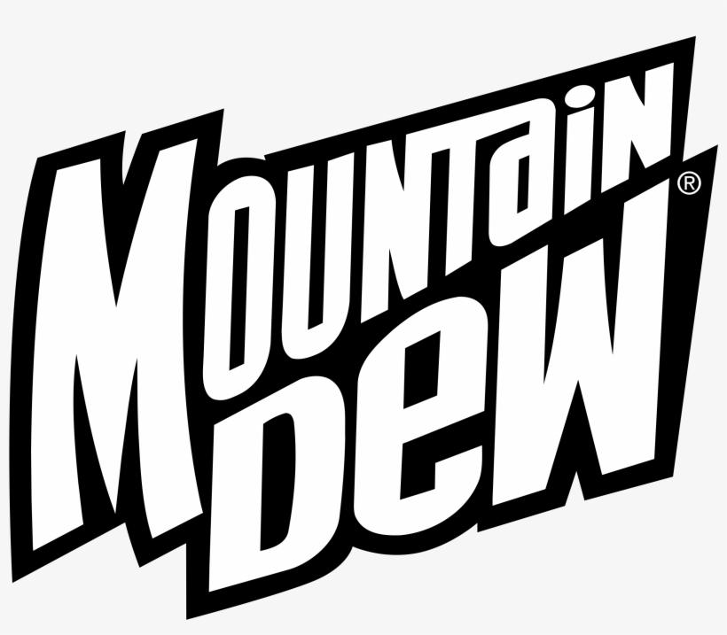 Mountain Dew Logo Png Transparent - Black Mountain Dew Logo, transparent png #1438556