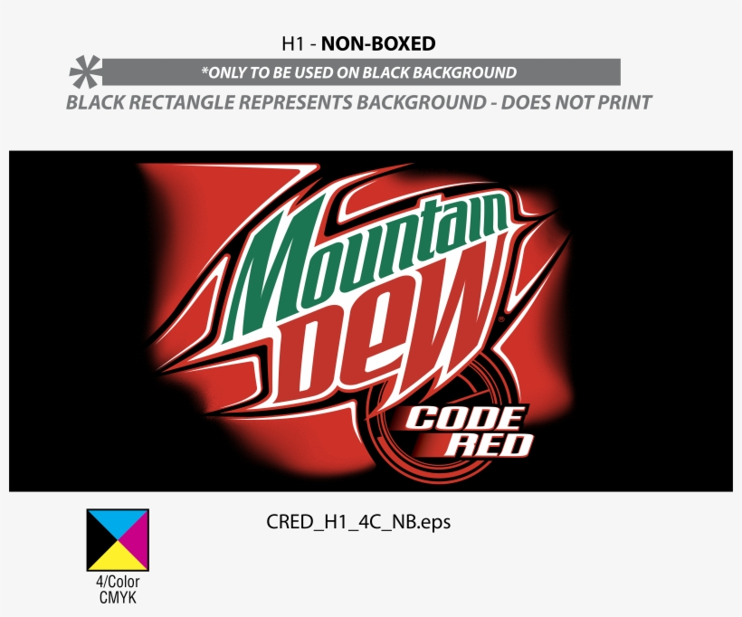Mountain Dew Code Red Logo Png Transparent - Mountain Dew Red Logo, transparent png #1438600