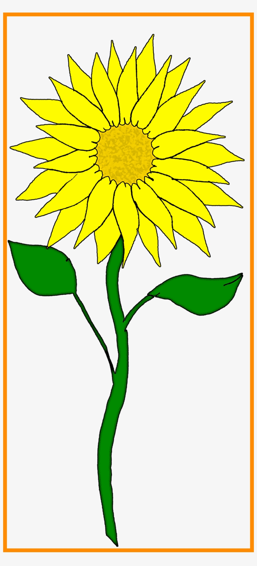 Stunning Flower Clipart Pict For Sunflower Frame Styles - Sunflowers Clipar, transparent png #1440468