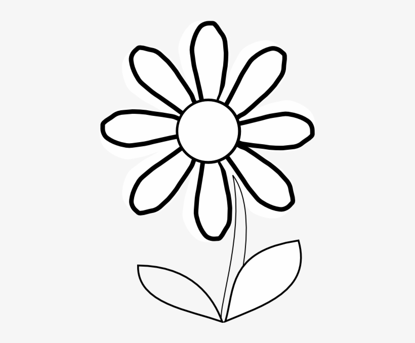 Sunflower Black And White Sunflower Clipart Black And Clipart