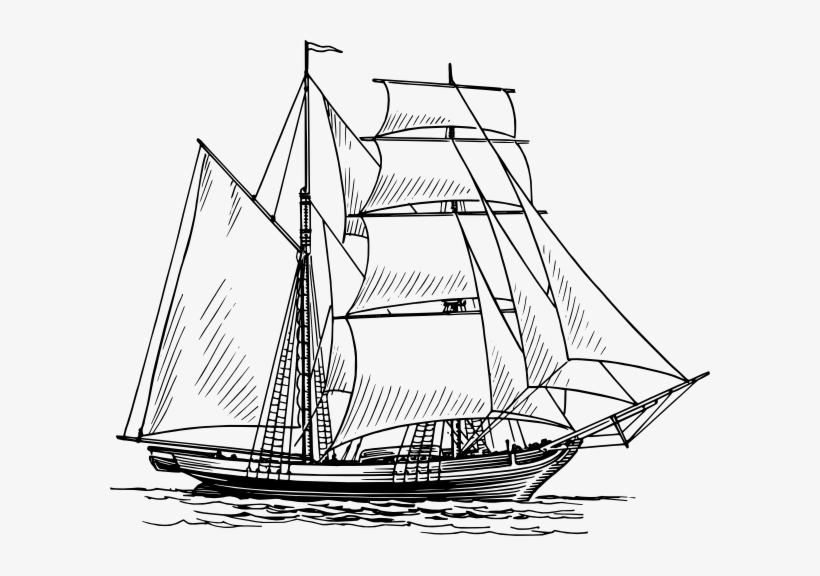 Old Boat Png Svg Royalty Free Stock - Boat Drawing, transparent png #1441755