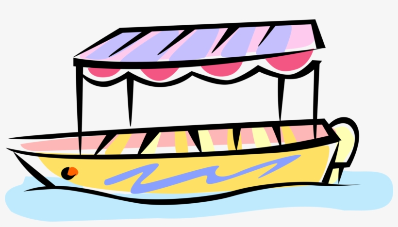 Small Tour Boat Royalty Free Vector Clip Art Illustration - Boat Ride Clip Art, transparent png #1441798