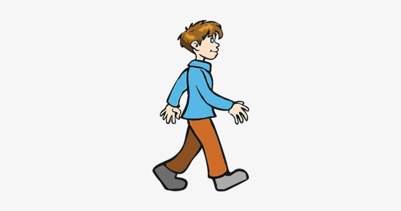 Boy Walking Away Clipart