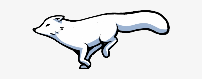 Arctic fox. Clipart red drawing free