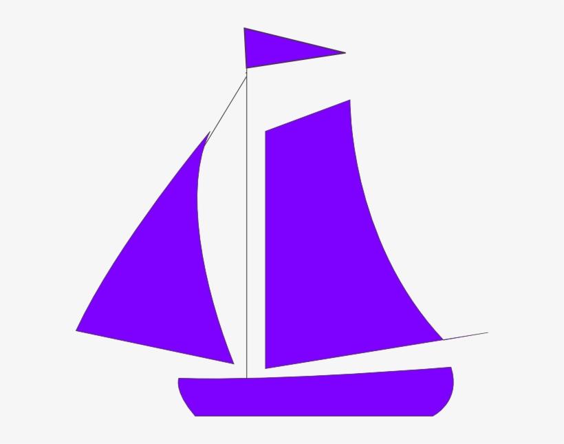 Boat Clipart Purple - Boat Clip Art, transparent png #1442372