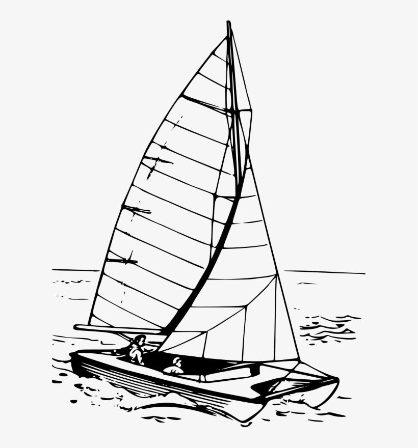 Sailing Boat Clipart Water Vehicle - Catamaran Clipart, transparent png #1442488