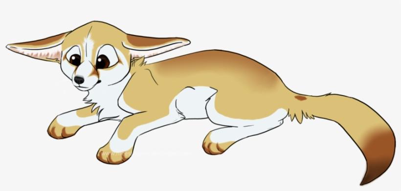 Fennec Fox Clipart Cartoon Pencil And In Color Fennec - Fennec Fox Furry Drawing, transparent png #1443002