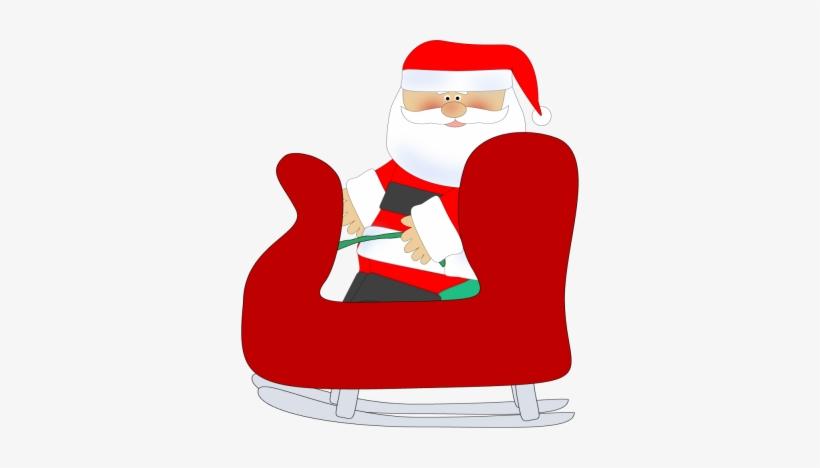 Santa Clipart Chair - Santa In His Sleigh Clipart, transparent png #1443767