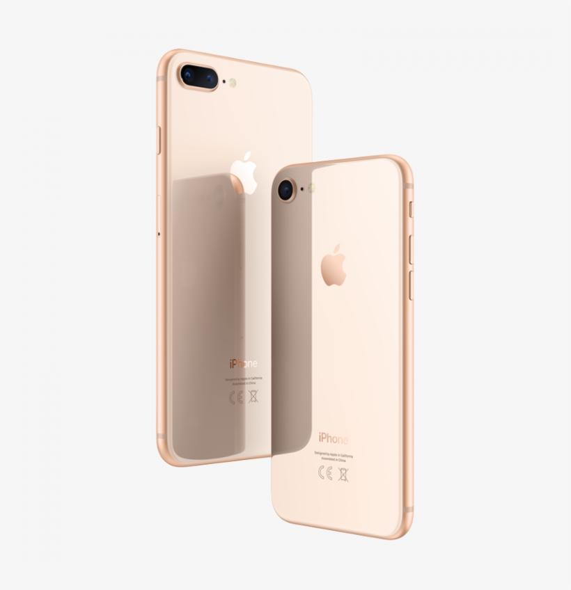 Iphone 8 Clipart Apple Iphone 8 Plus Iphone X Apple - Iphone 8 Plus Gold, transparent png #1443996