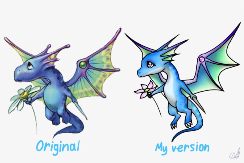 Blue Dragon Clipart Little - Sweet Dragon, transparent png #1444637