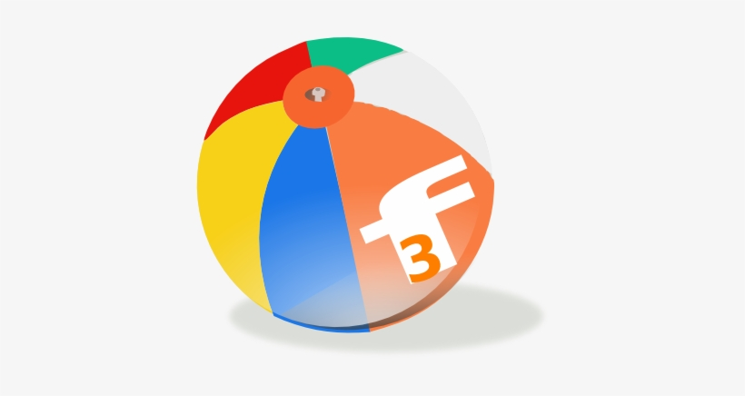Florida Fun Find Beach Ball Logo Clip Art - Beach Ball Clip Art, transparent png #1444967