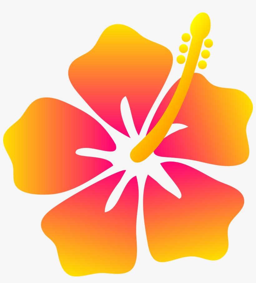 Surfboard Clipart Kid - Hawaiian Flower Clipart, transparent png #1445517