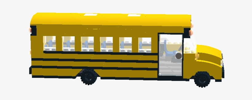 School Bus Clipart Black And White Library - Lego School Bus Digital Designer, transparent png #1445681