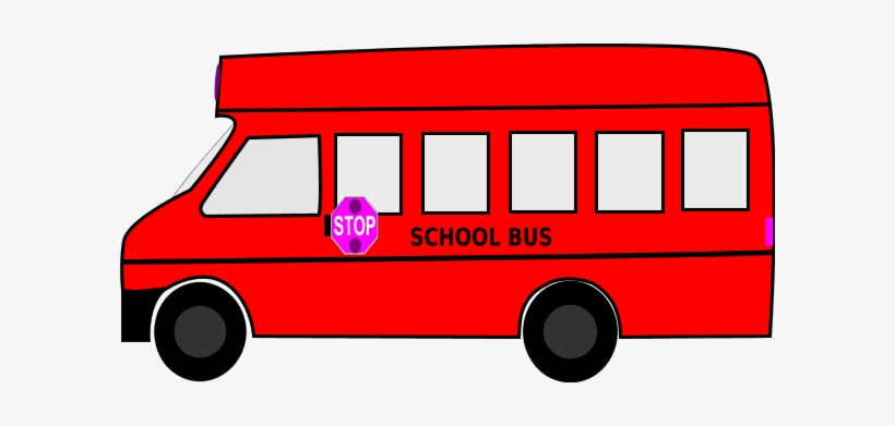 Red School Bus Clipart - Red School Bus Clip Art, transparent png #1445682