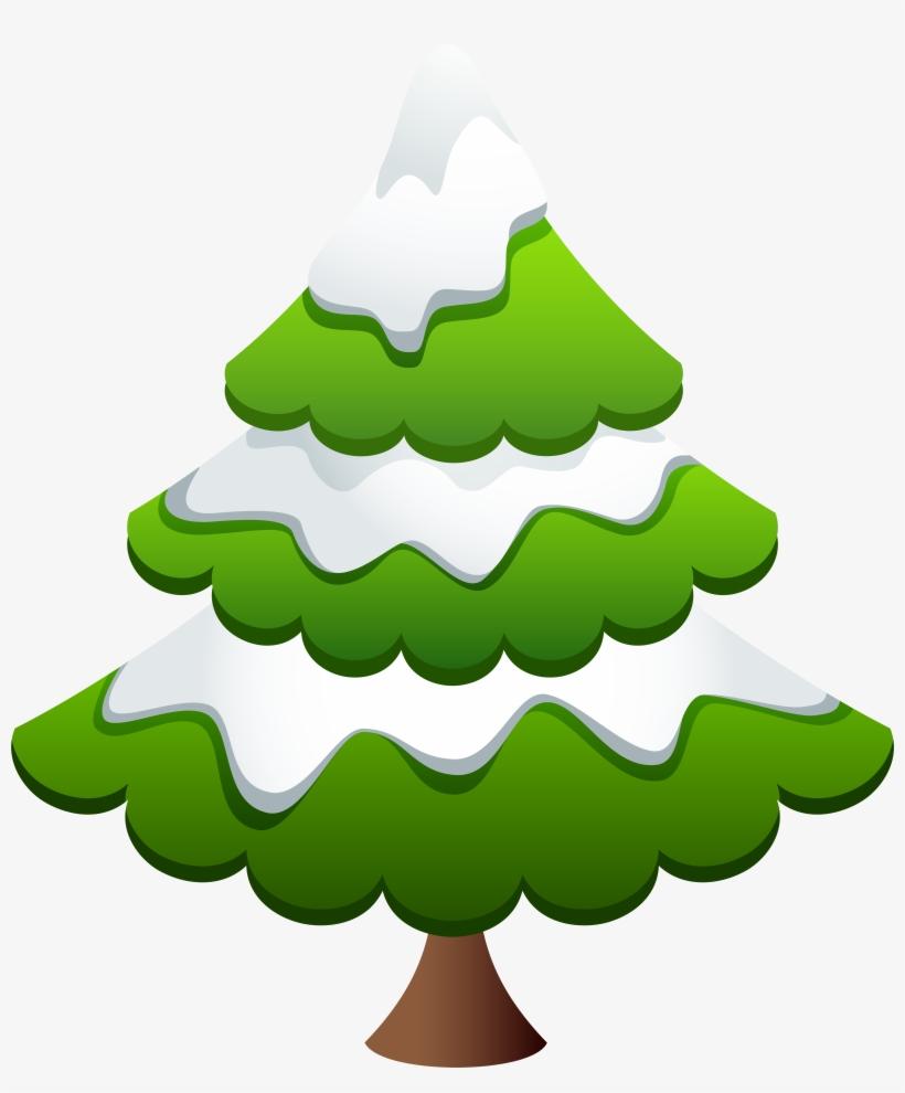Winter Pine Tree Clip Art Image, transparent png #1446025