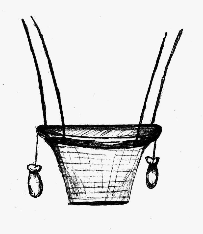 Hot Air Balloon Clipart Doodle - Hot Air Balloon Basket Drawing, transparent png #1446171