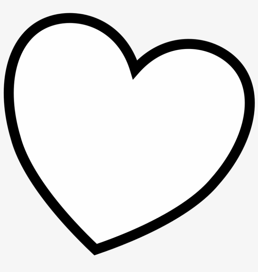 Amazing Black Heart Outline With Heart Coloring Pages - Coloring Book, transparent png #1446633