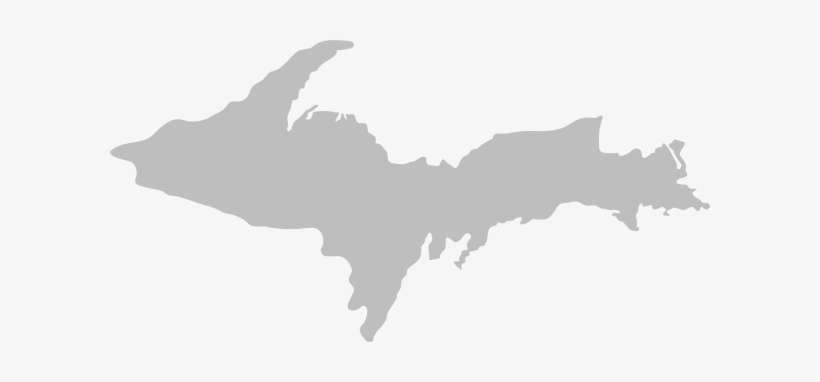 Michigan Upper Peninsula Clip Art - Upper Peninsula Of Michigan Outline, transparent png #1447504