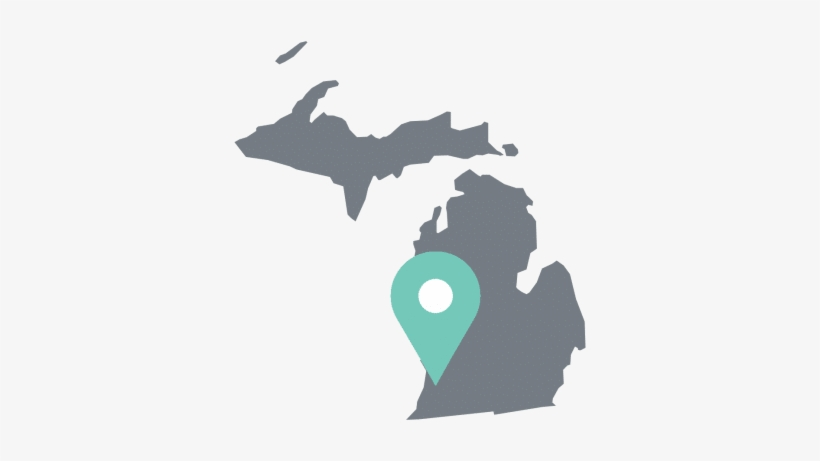 Michigan State Outline - Michigan Counties 2016 Election, transparent png #1447735