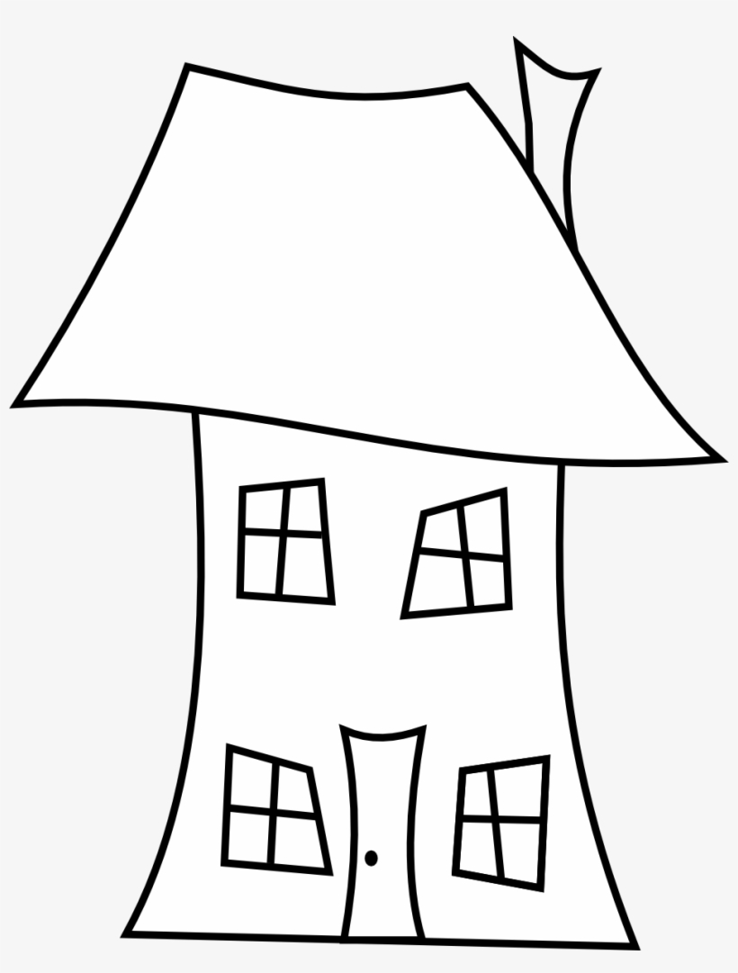 Empty House Template Florida Outline Clipart