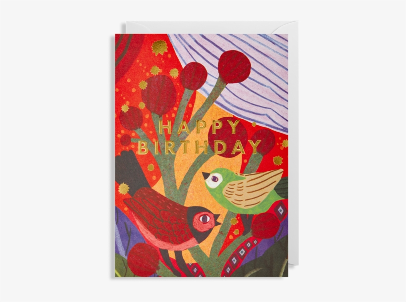 Happy Birthday Birds Greeting Card - Greeting Card, transparent png #1449248