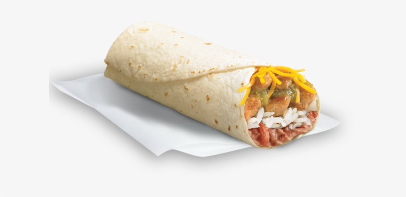 Spicy Grilled Chicken Burrito Del Taco, transparent png #1452127