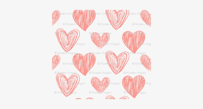 Valentine S Day Pink Hand Drawn Hearts Cute Valentines Heart