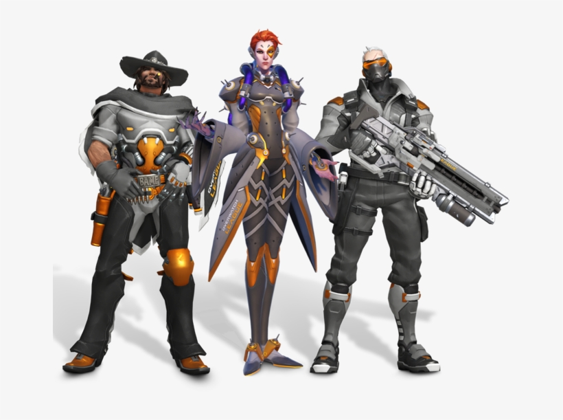 Junkrat Mccree, Moira, And Soldier - Overwatch All Access Pass Skins, transparent png #1453502