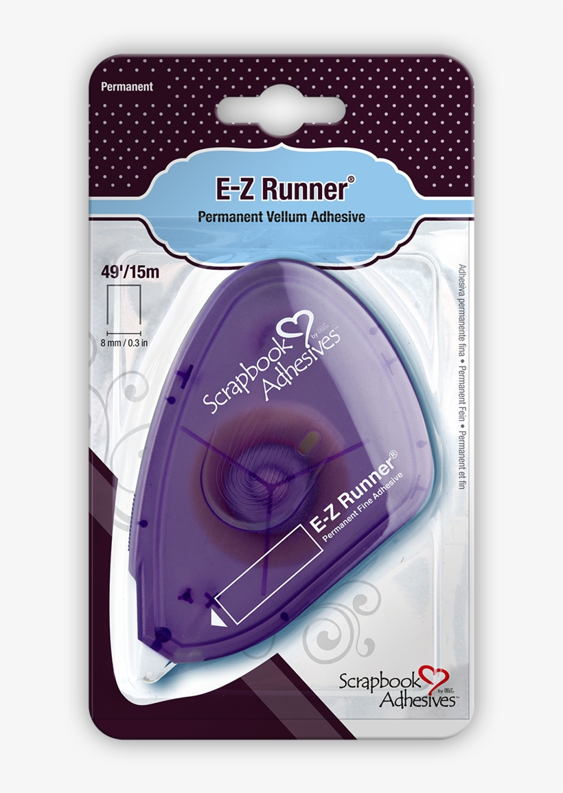 E-z Runner Permanent Fine Original Dispenser, 49ft/15m - 3l E-z Runner Permanent Vellum Tape, 49-feet, transparent png #1453939
