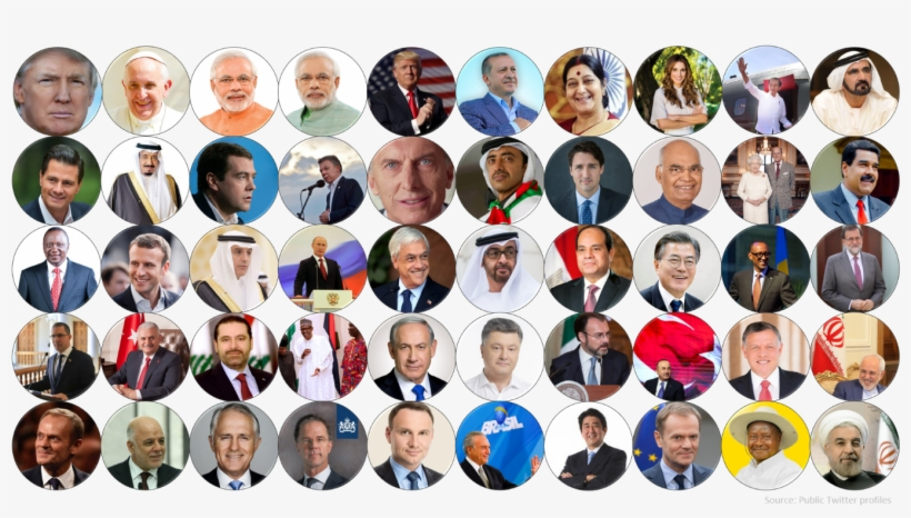 According To The Newly Released 2018 Twiplomacy Study - Most Followed World Leaders On Twitter 2018, transparent png #1458198