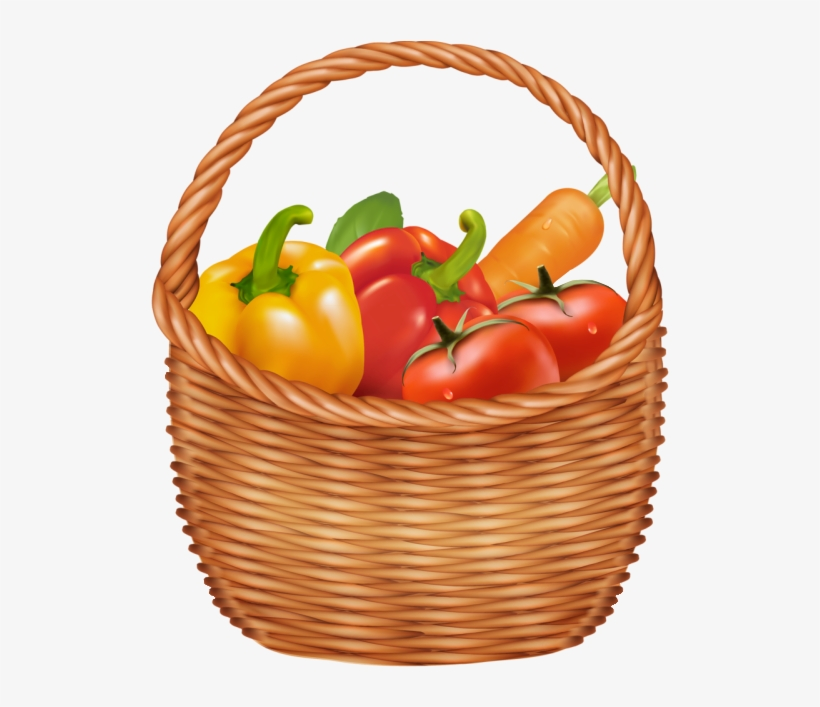 Vegetables Basket Png Clipart Picture - Vegetables Clipart, transparent png #1459542