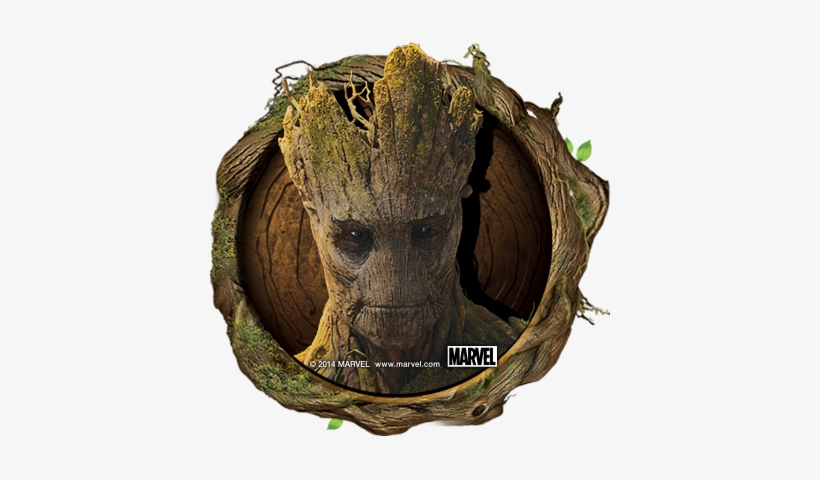Guardiansofthegalaxy Avatar Groot - Groot Round Round Coaster, transparent png #1459609