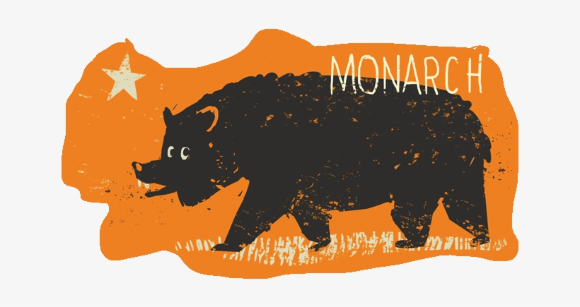 Monarch The Bear From Kingdom Animalia California Flag - Animal, transparent png #1463615