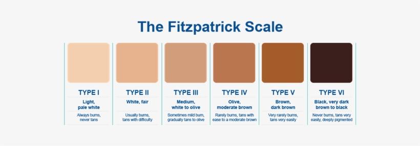 Fitzpatrick Color Chart Skin Tone Transpa Png 1464718