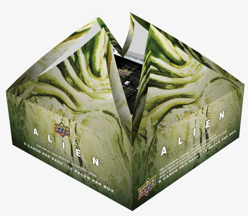 Alien Trading Card Set Is Available In Your Local Hobby - Upper Deck Alien Box, transparent png #1465369