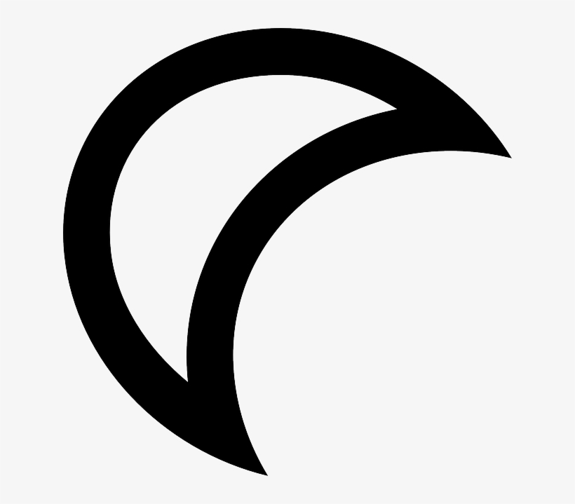 Outline, Moon, White, Half, Crescent, Space, Quarter - Media Luna Blanco Y Negro, transparent png #1465492