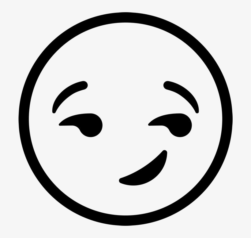 Smirking Face Emoji Rubber Stamp