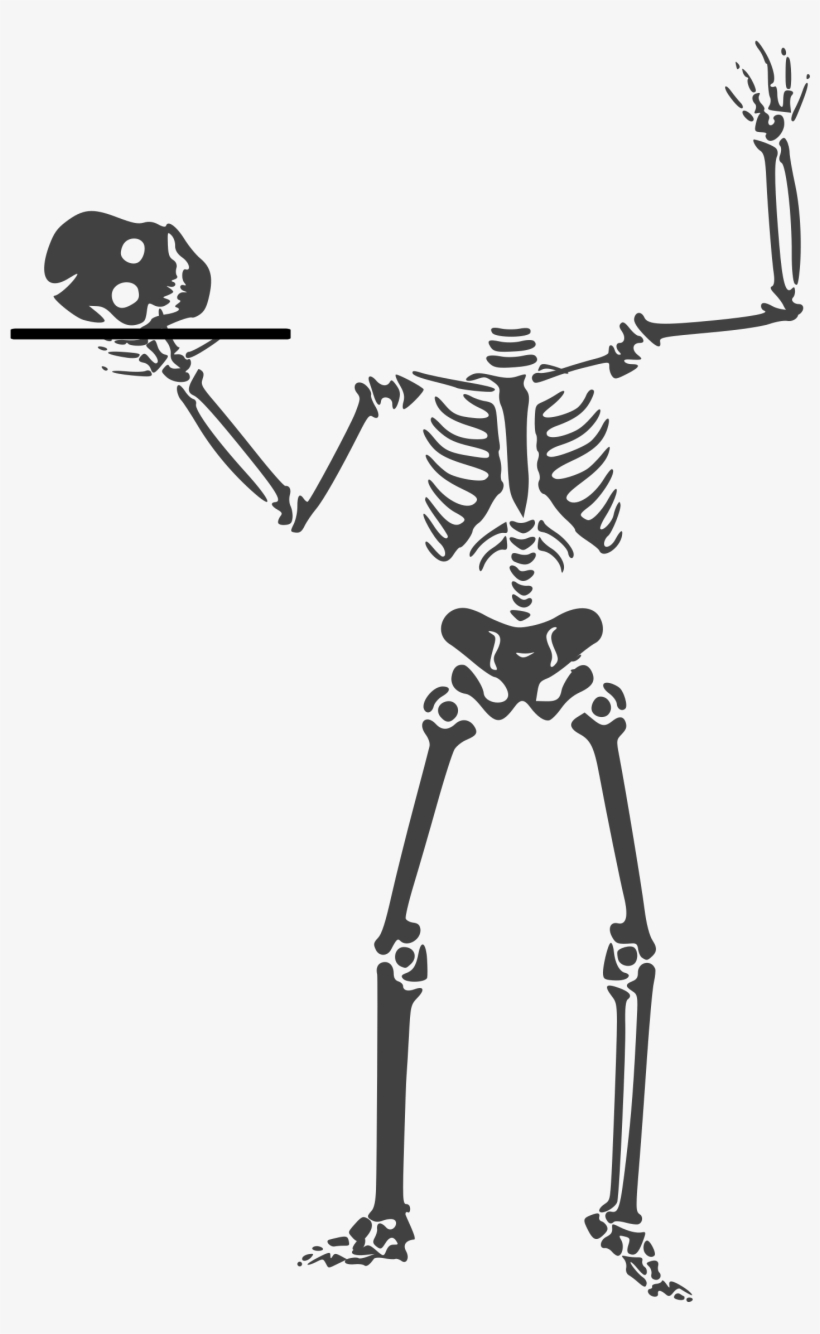 Snapchat Ghost Clipart - Halloween Skeleton, transparent png #1467023