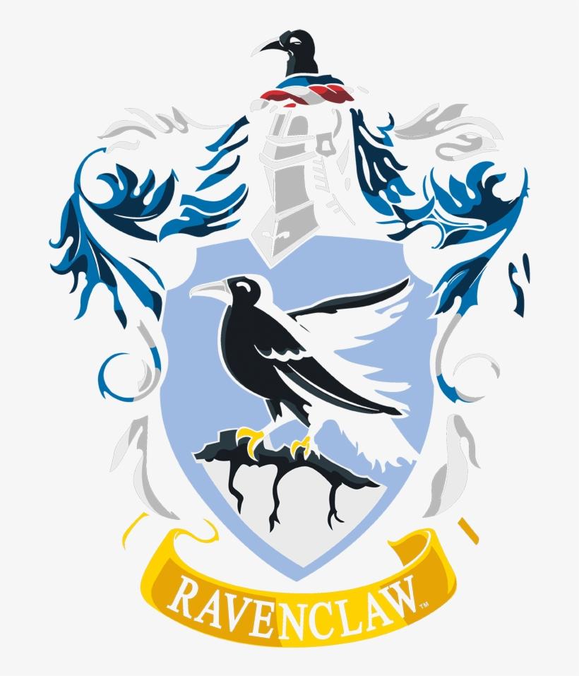Harry Potter Ravenclaw Crest Men's V Neck T Shirt - Wall Decal: Revenclaw Crest - Harry Potter, transparent png #1467804
