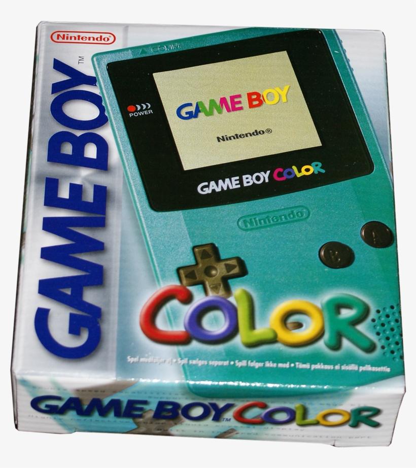 Game Boy Color In Original Box - Game Boy Color Teal, transparent png #1470697