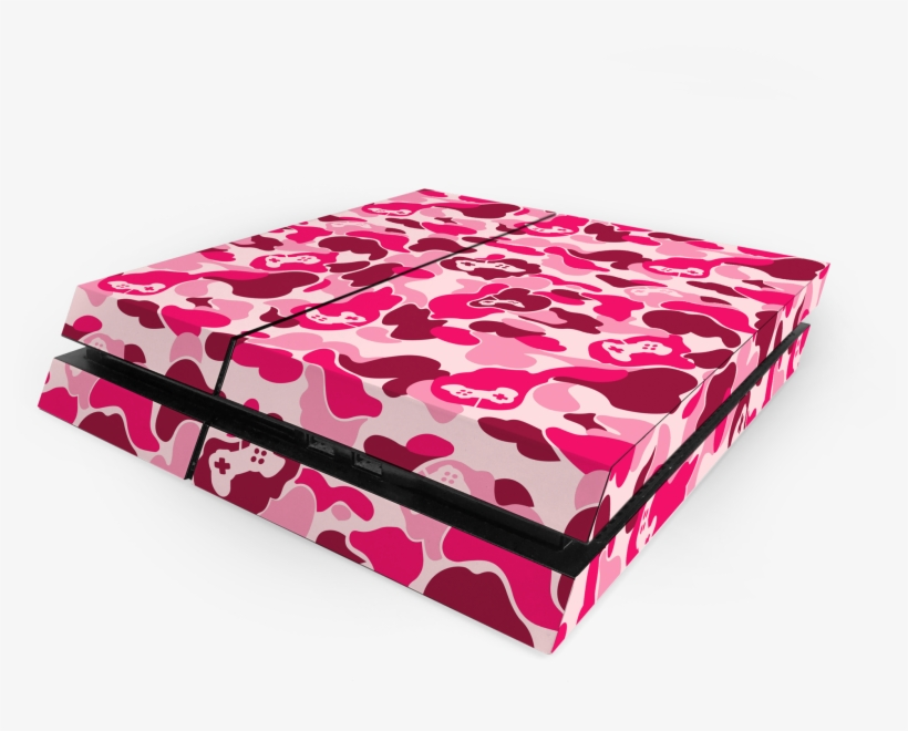 Sony Ps4 Pink Game Camo Decal Skin Kit - Sony Playstation 4 Pro, transparent png #1470855