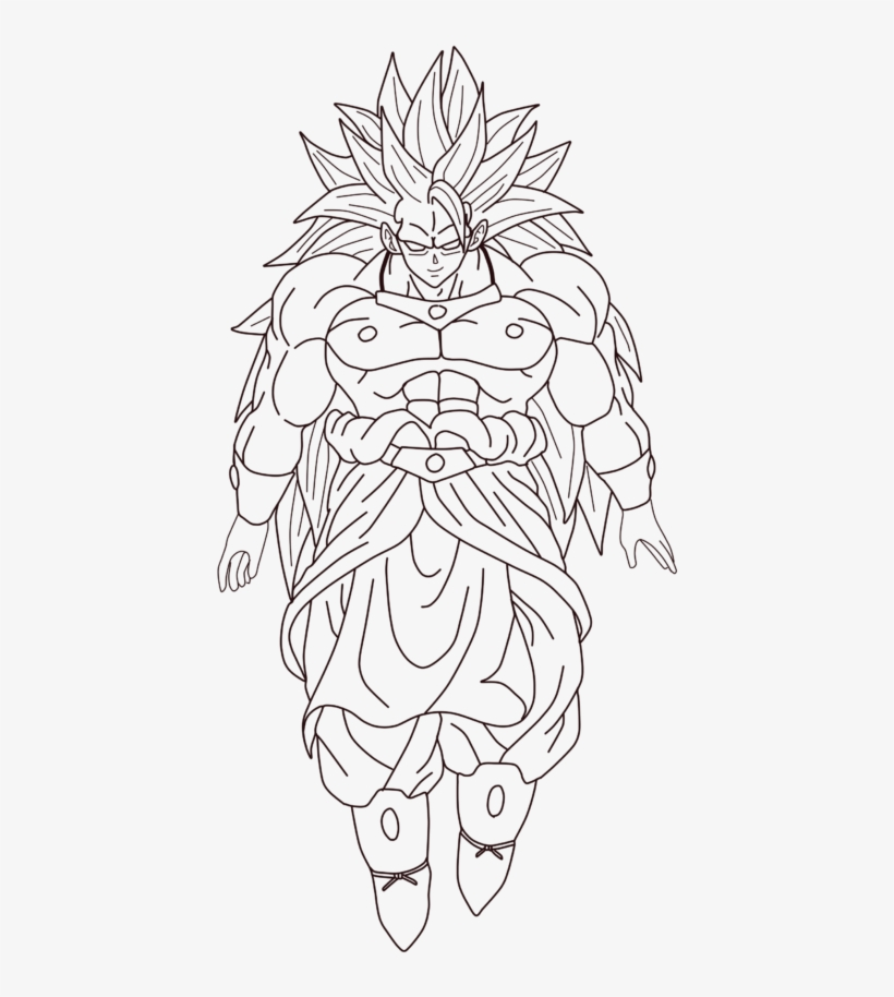 Broly Lssj3 Dragon Ball Z Super Saiyan Drawing Free Transparent