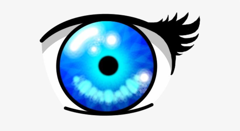 The Best Anime Eye - Anime Crystal Blue Eyes, transparent png #1473997