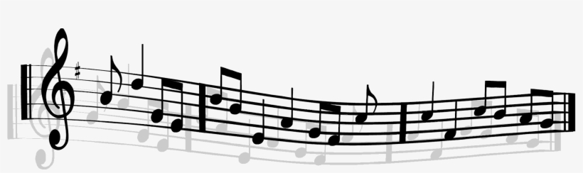 Music Staff By Alonewolves On Clipart Library - Transparent Background Music Notes Png, transparent png #1473998