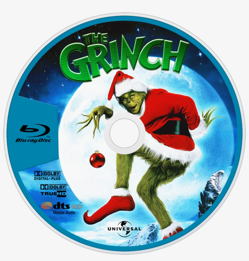 How The Grinch Stole Christmas Bluray Disc Image - El Grinch Blu Ray, transparent png #1476906