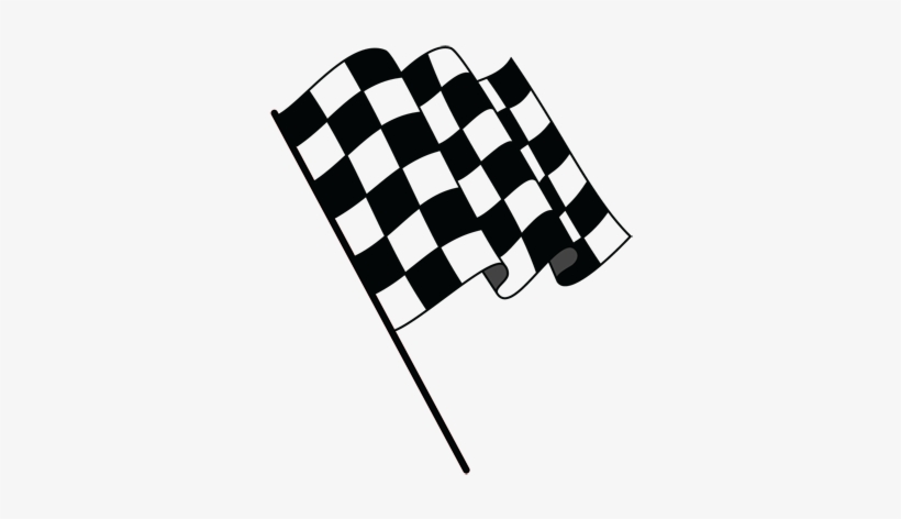 Wavy Checkered Flag - Happy Fathers Day Racing, transparent png #1477934