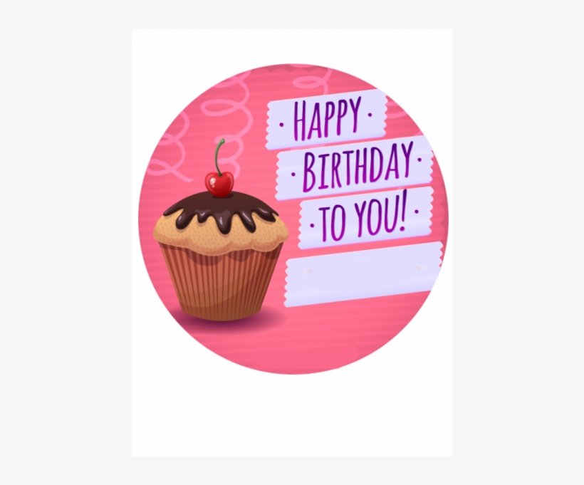 Birthday Cupcake Cake Topper - Happy Birthday From The Dog, Humorous Scooting Canine, transparent png #1479569