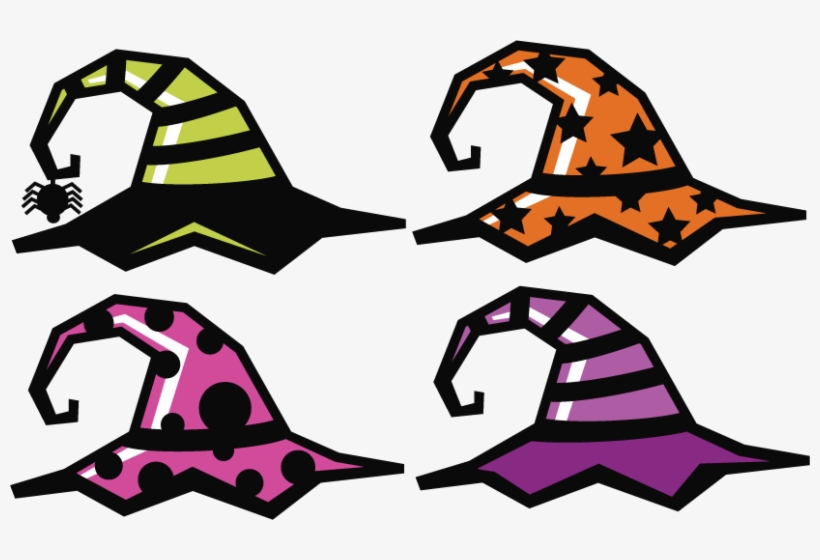 Witch Hat Clipart Large With Witch Hat Clipart Halloween Free Svg Files Free Transparent Png Download Pngkey